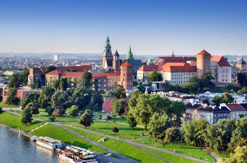 Het Kasteel van Wawel in Krakau, Polen royalty-vrije stock foto's