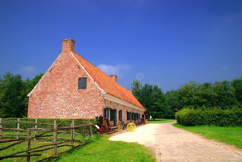 Historisch landbouwbedrijfhuis royalty-vrije stock fotografie