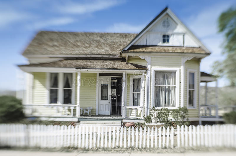 Historisch landbouwbedrijfhuis in Pioniersdorp, Phoenix, royalty-vrije stock fotografie