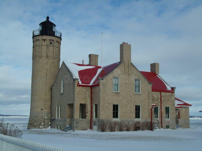 Historisch Licht huis stock foto