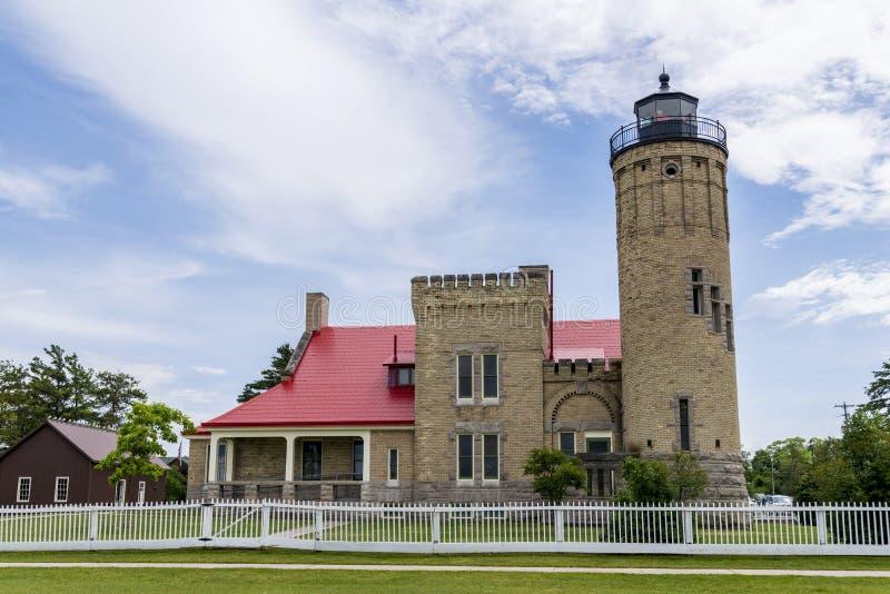 Historisch Licht huis stock afbeeldingen