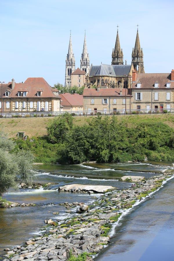 Historisch Moulins in Allier, Frankrijk stock fotografie