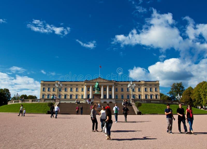 Historisch Noors koninklijk paleis, Oslo stock foto's