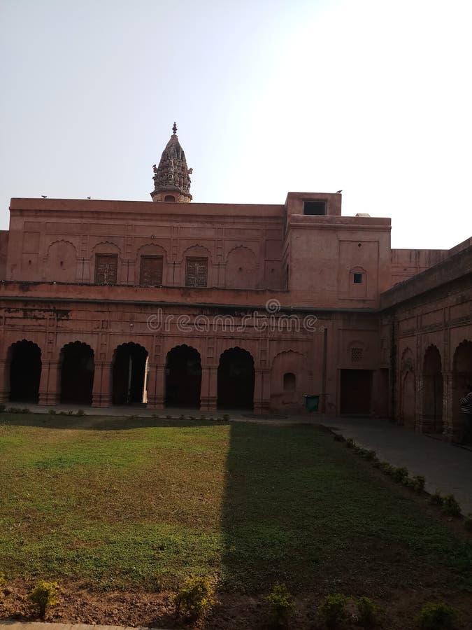 Historisch paleis in haryana India stock afbeeldingen