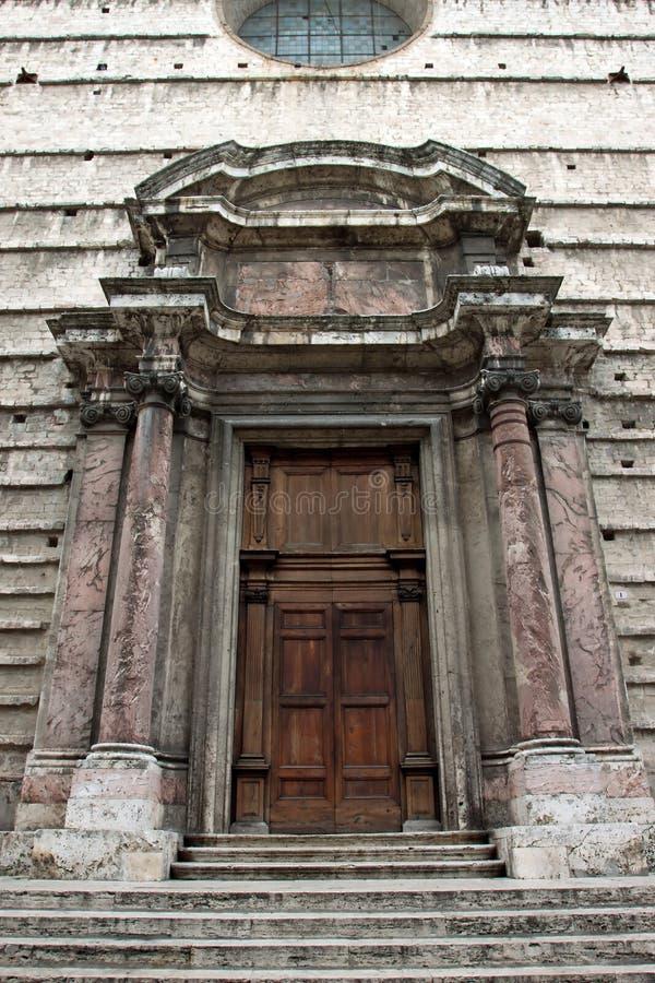 Historisch paleis in het centrum van Perugia royalty-vrije stock foto