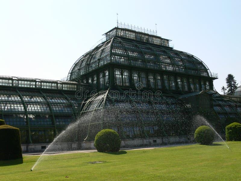 Historisch palmhuis stock foto
