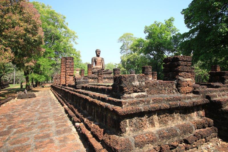Historisch Park van de Provincie van Kamphaeng Phet, Thailand, vroeger een hoofdstad Dit is een toeristische attractie royalty-vrije stock afbeelding