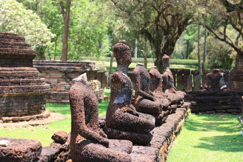 Historisch Park van de Provincie van Kamphaeng Phet, Thailand, vroeger een hoofdstad Dit is een toeristische attractie royalty-vrije stock foto's