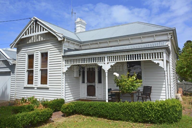 Historisch plattelandshuisje in Port Fairy royalty-vrije stock afbeelding