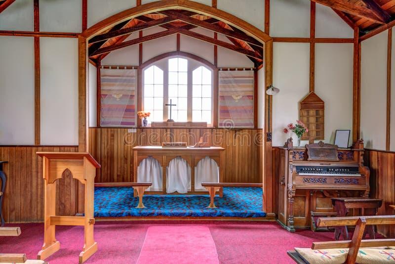 Historisch Port Arthur: binnenland van Kerk royalty-vrije stock foto