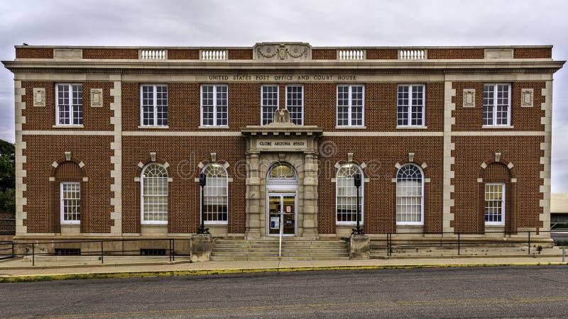 Historisch postkantoor en gerechtsgebouw in Globe Arizona stock foto