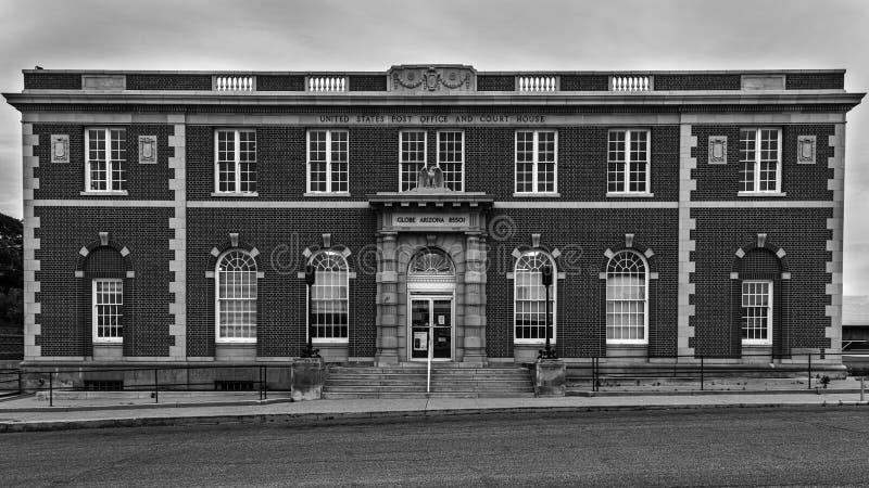 Historisch postkantoor en gerechtsgebouw in Globe Arizona royalty-vrije stock foto