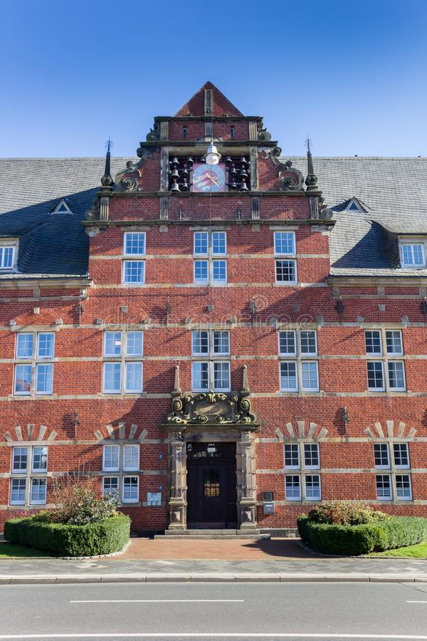 Historisch Robert Koch-huis in Wilhelmshaven royalty-vrije stock afbeelding