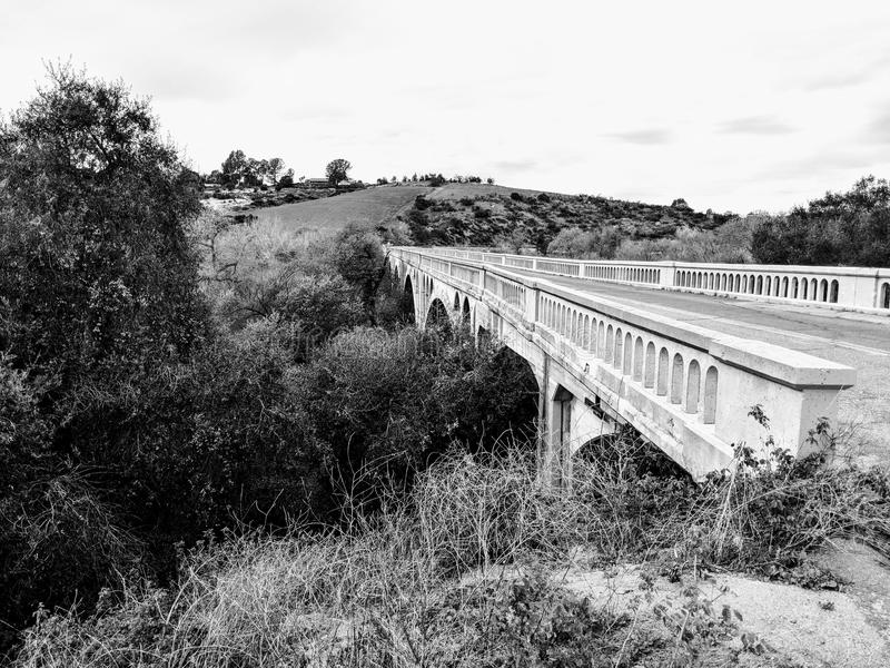Historisch San Luis Rey Bridge royalty-vrije stock foto's