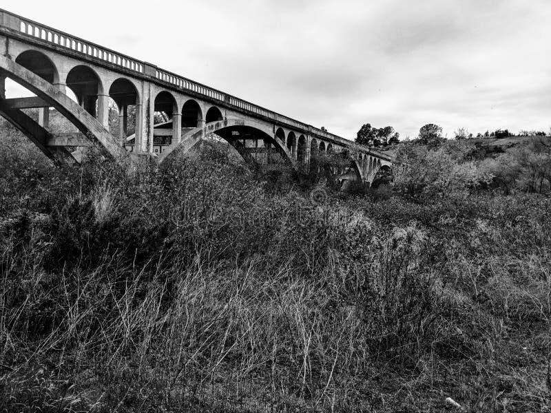 Historisch San Luis Rey Bridge stock afbeeldingen