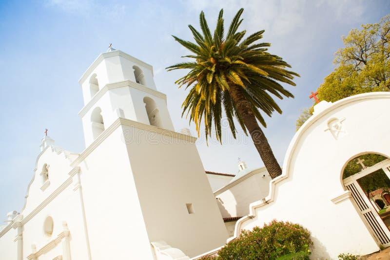 Historisch San Luis Rey Mission in Oceanside Californië stock afbeeldingen