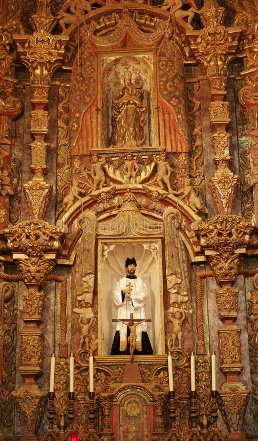 Historisch San Xavier del Bac Mission stock afbeeldingen