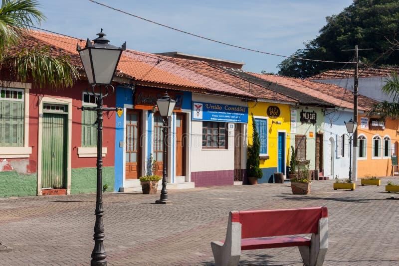 Historisch Sao Paulo Brazil van Huisvestingsitanhaem stock afbeeldingen