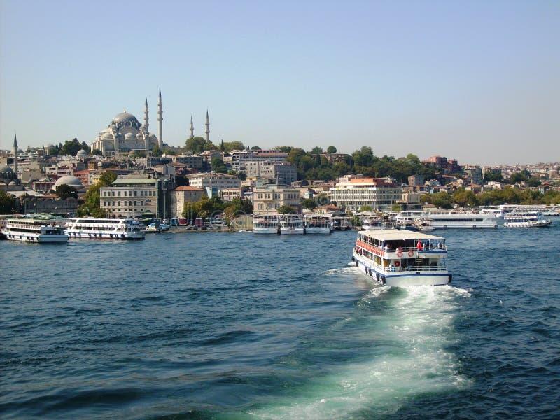 Historisch schiereiland van Istanboel van het overzeese beeld royalty-vrije stock afbeeldingen