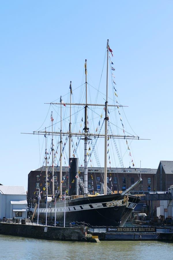 Historisch SS Groot-Brittannië Stoomschip in Bristol Harbour stock foto