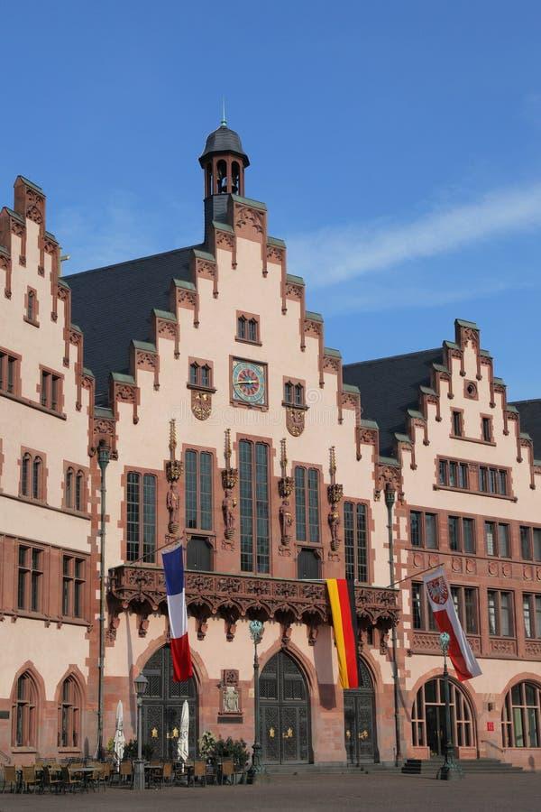 Historisch stadhuis van Frankfurt stock fotografie