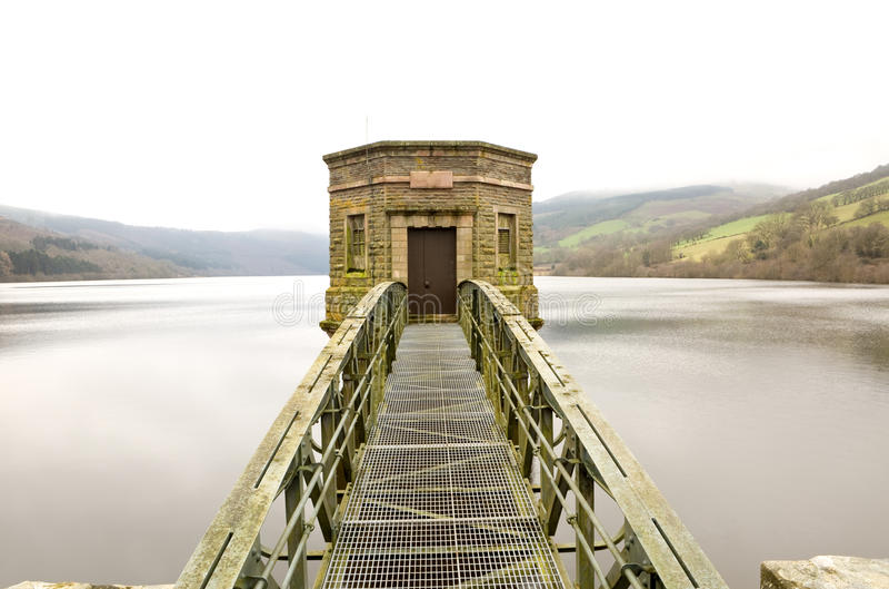 Historisch Talybont-Reservoir royalty-vrije stock fotografie
