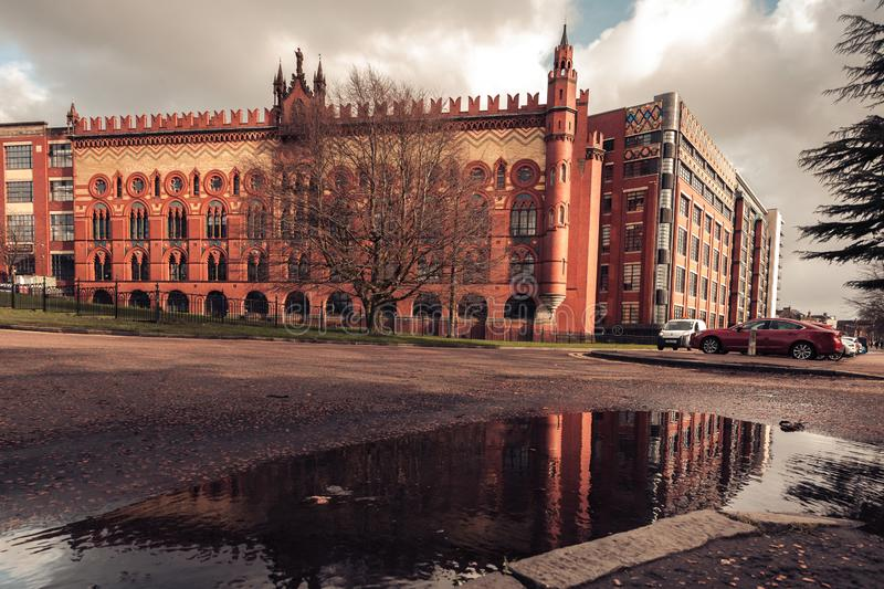 Historisch Templeton Carpet Factory Building van Glasgow in Glasgow royalty-vrije stock afbeelding
