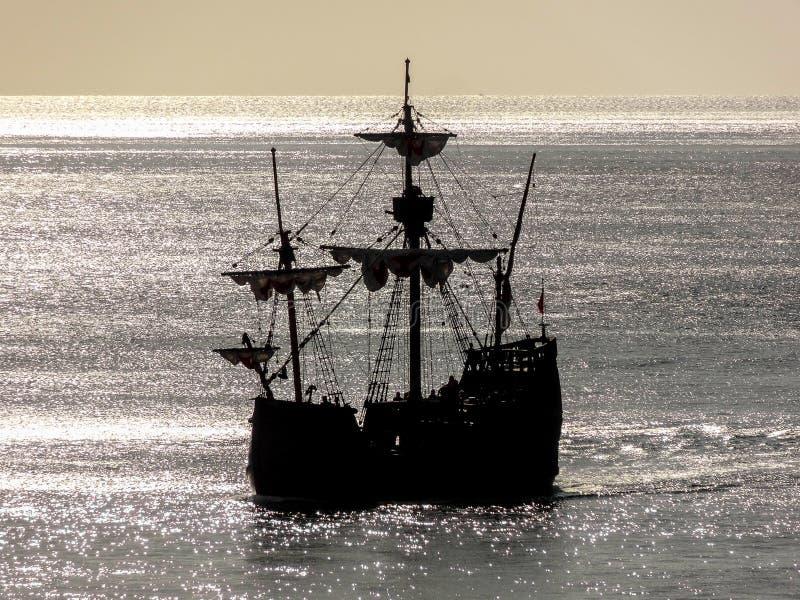 Historisch varend schip stock foto's