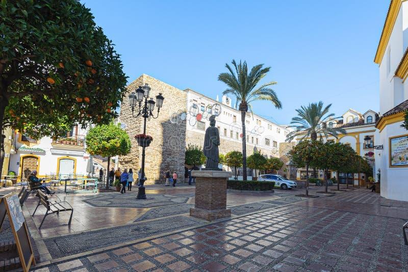 Historisch vierkant in centraal deel van oude stad stock afbeeldingen