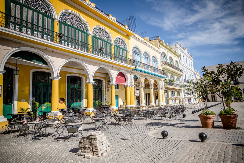 Historisch vierkant in Havana, Cuba stock foto