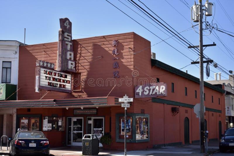 Historisch viersterrentheater van San Francisco ` s, 1 stock afbeeldingen