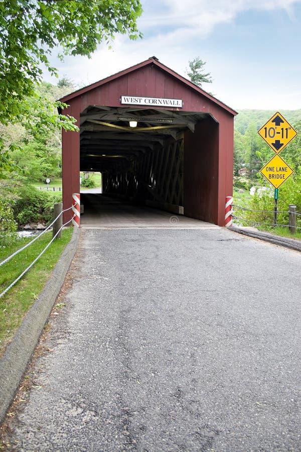 Historische abgedeckte Brücke stockfotos