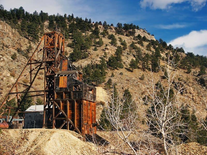 Historische alte Goldmine stockbild
