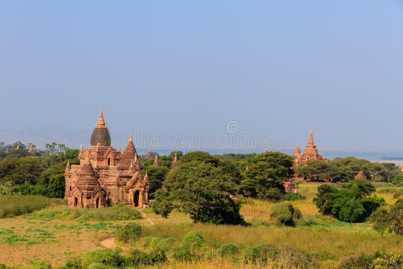 Historische alte Pagoden, Bagan auf Myanmar (Burmar) lizenzfreies stockbild