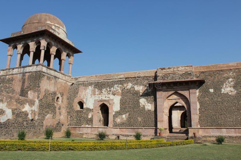 Historische architectuur, baz bahadur paleis, mandav, madhyapradesh, India stock afbeelding