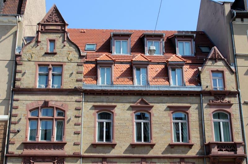 Historische architectuur in Heidelberg, Duitsland stock afbeelding