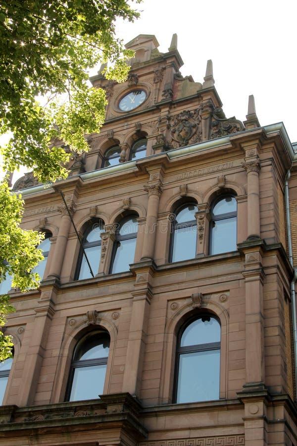 Historische architectuur in Heidelberg, Duitsland stock foto