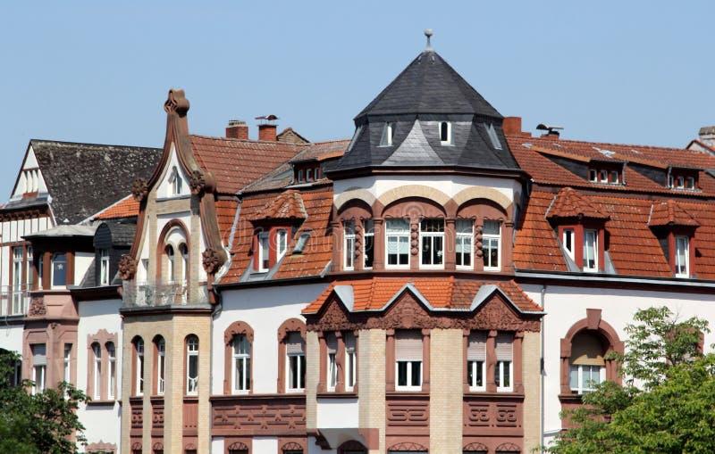 Historische architectuur in Heidelberg, Duitsland royalty-vrije stock afbeeldingen