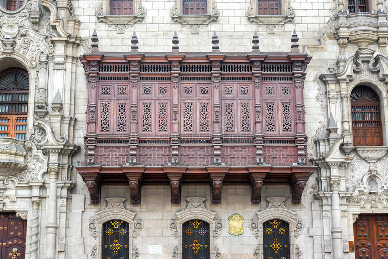 Download Historische Architectuur In Lima, Peru Stock Afbeelding - Afbeelding bestaande uit stad, architectuur: 54089711