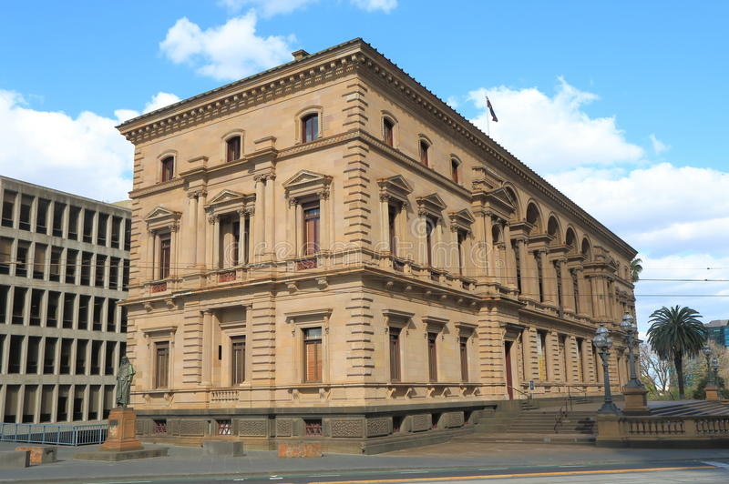 Historische Architectuur Oude Schatkist die Melbourne Australië bouwen royalty-vrije stock afbeeldingen