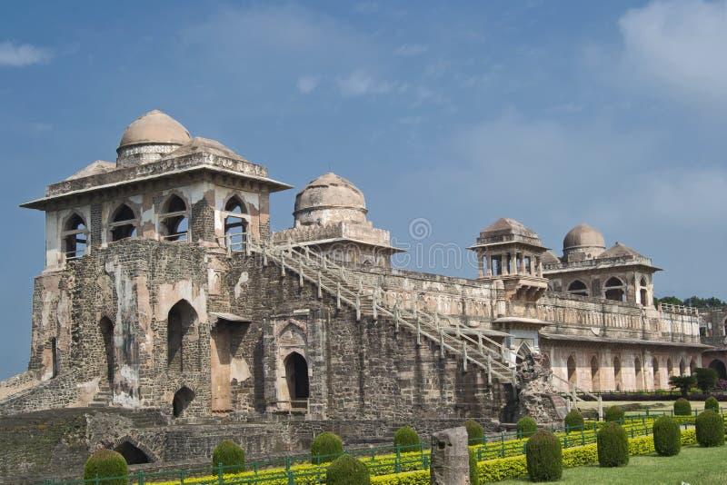 Historische Architectuur van Jahaz Mahal Mandav royalty-vrije stock foto's