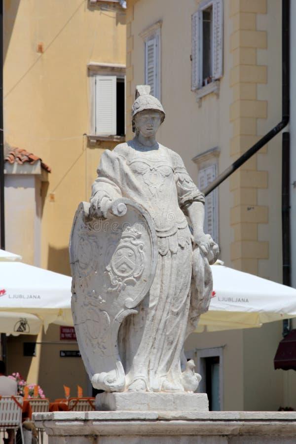 Historische architectuur van Piran, Slovenië royalty-vrije stock afbeeldingen