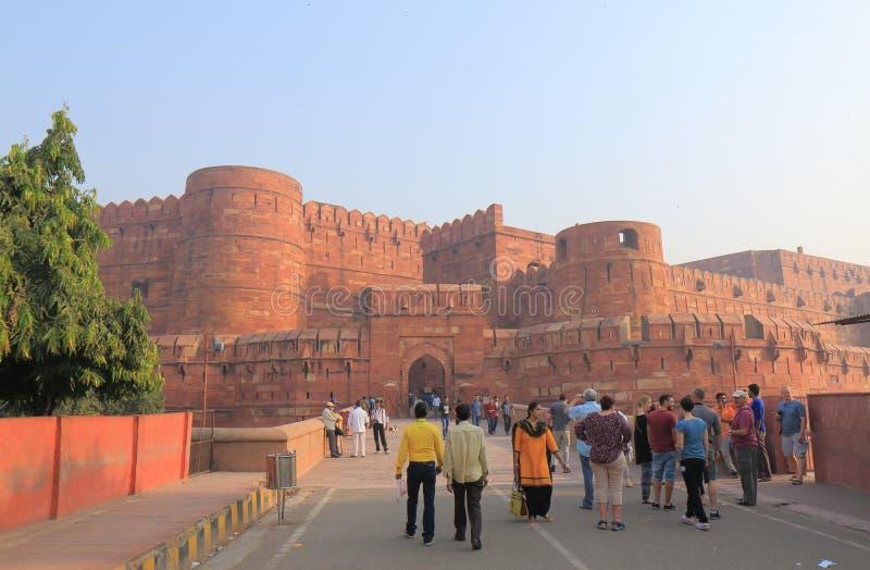 Historische Architektur Agra Indien Agra-Forts stockfoto