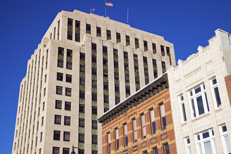 Historische Architektur von Springfield lizenzfreies stockbild