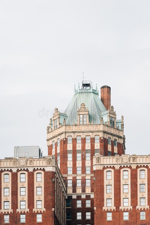 Historische Architekturdetails in Baltimore, Maryland lizenzfreie stockfotografie