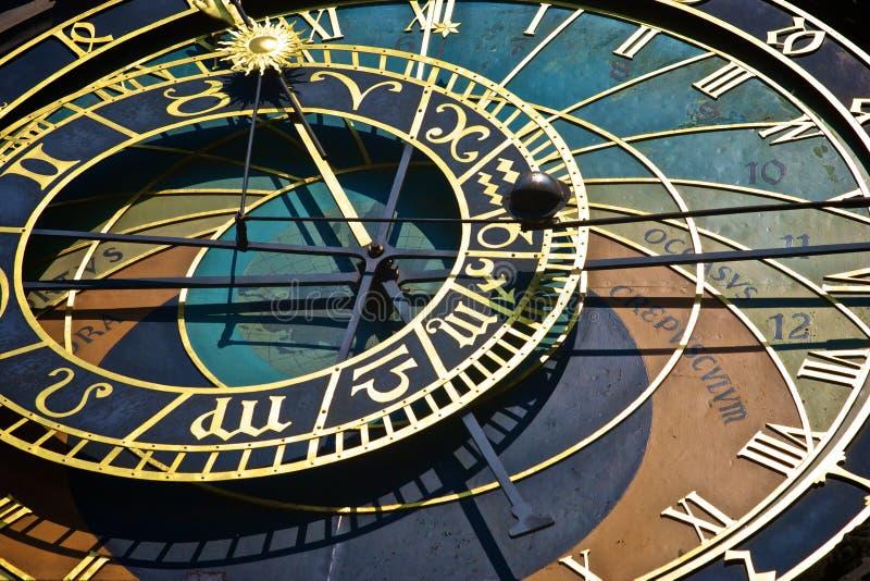 Historische astronomische Borduhr in Prag stockfotografie