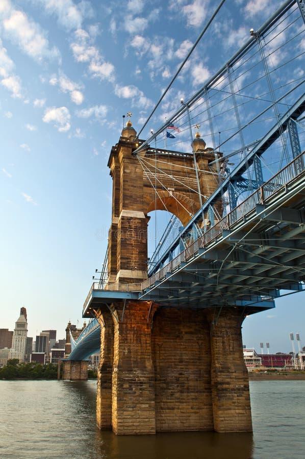 Historische Aufhebungbrücke John-A. Roebling. lizenzfreies stockfoto
