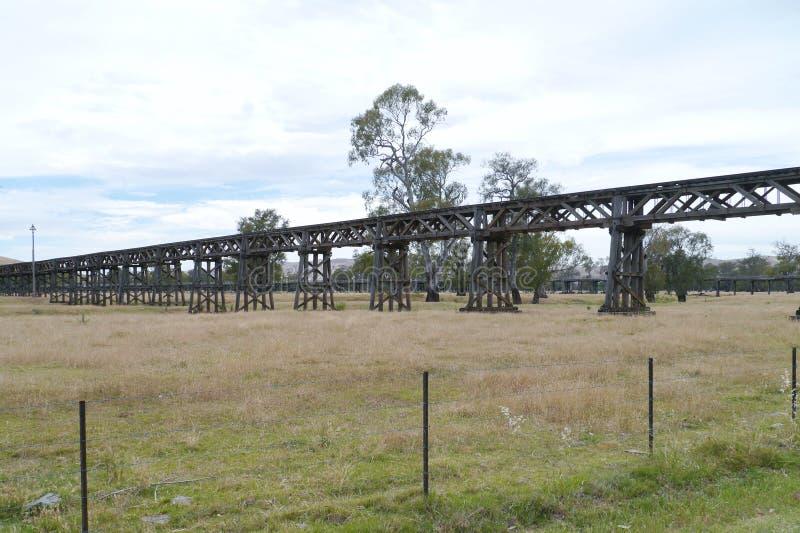 Historische Australische spoorbrug stock afbeelding