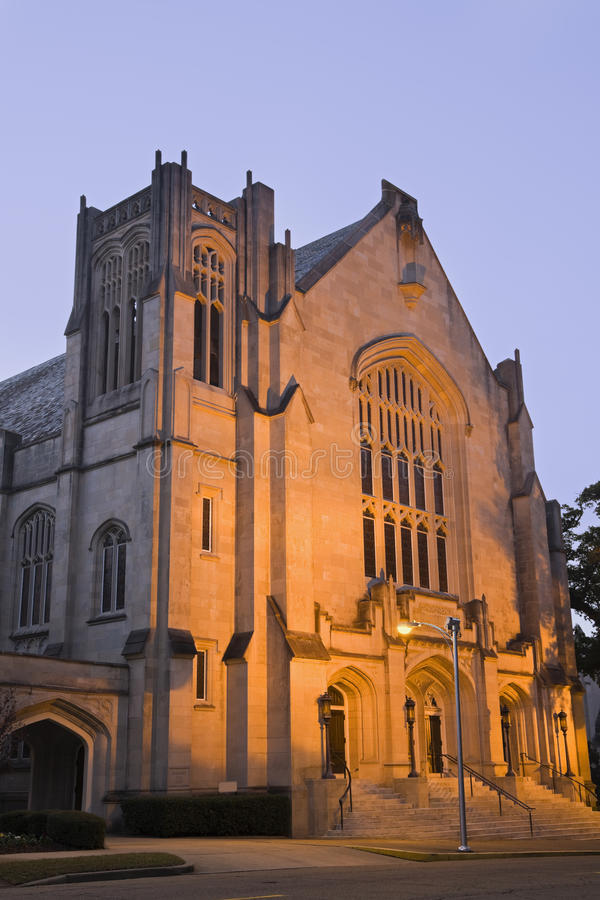 Historische Baptistenkirche in Jackson lizenzfreie stockfotografie