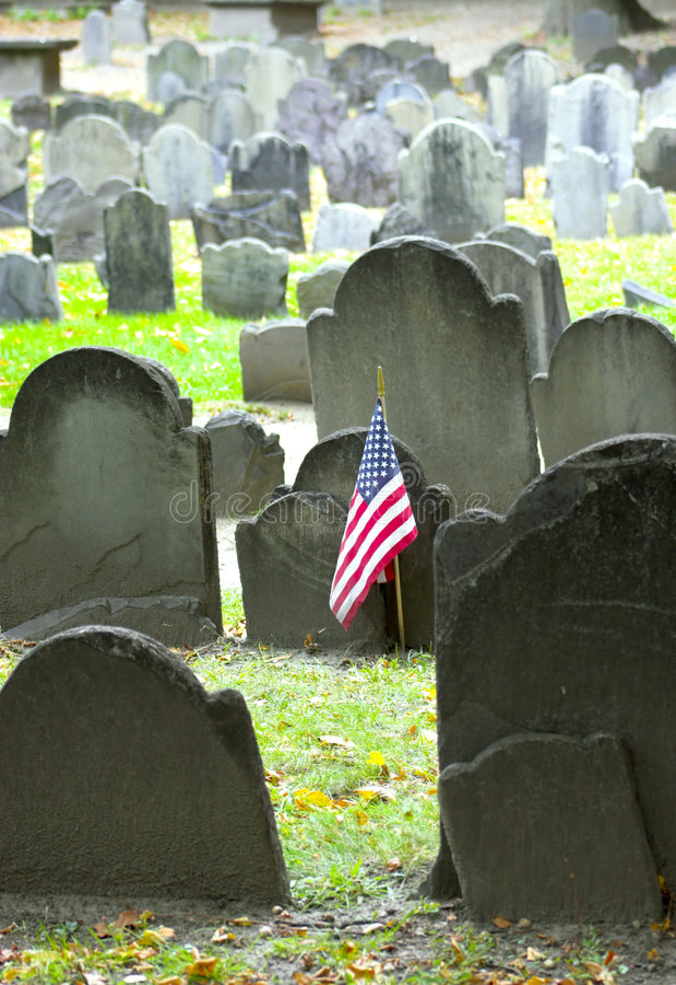 Historische begraafplaats stock afbeeldingen